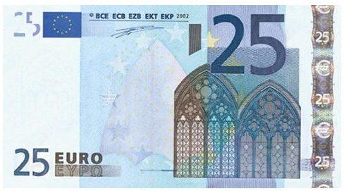 25$ In EUR