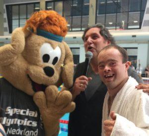 Alexander bij de Special Olympics in Heerenveen